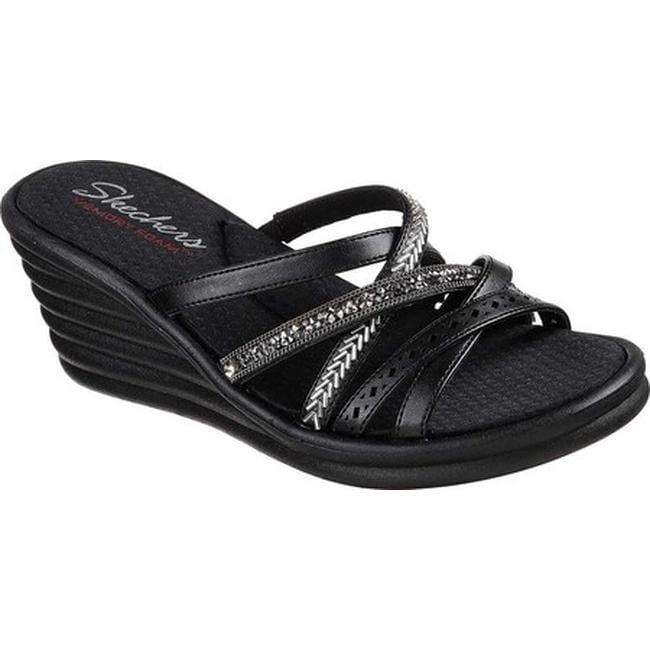 09a26d82fe40 Shop Skechers Women s Rumblers Wave New Lassie Slide Wedge Sandal ...
