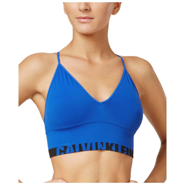 cadb8db2892981 Shop Calvin Klein Womens Seamless Logo Longline Multiway Bralette Royal  Blue - Ships To Canada - Overstock.ca - 18521328