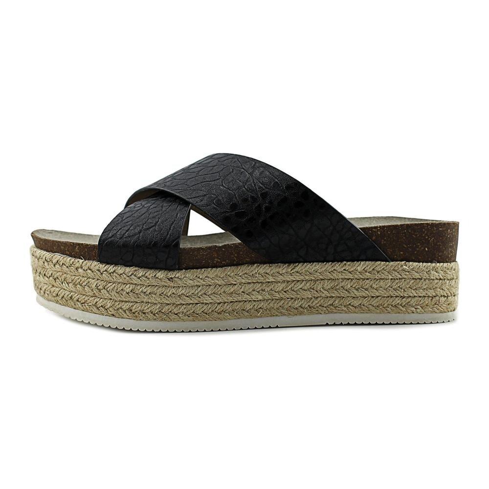 15ee87e4805 Steve Madden Hassie Women Open Toe Leather Black Platform Sandal