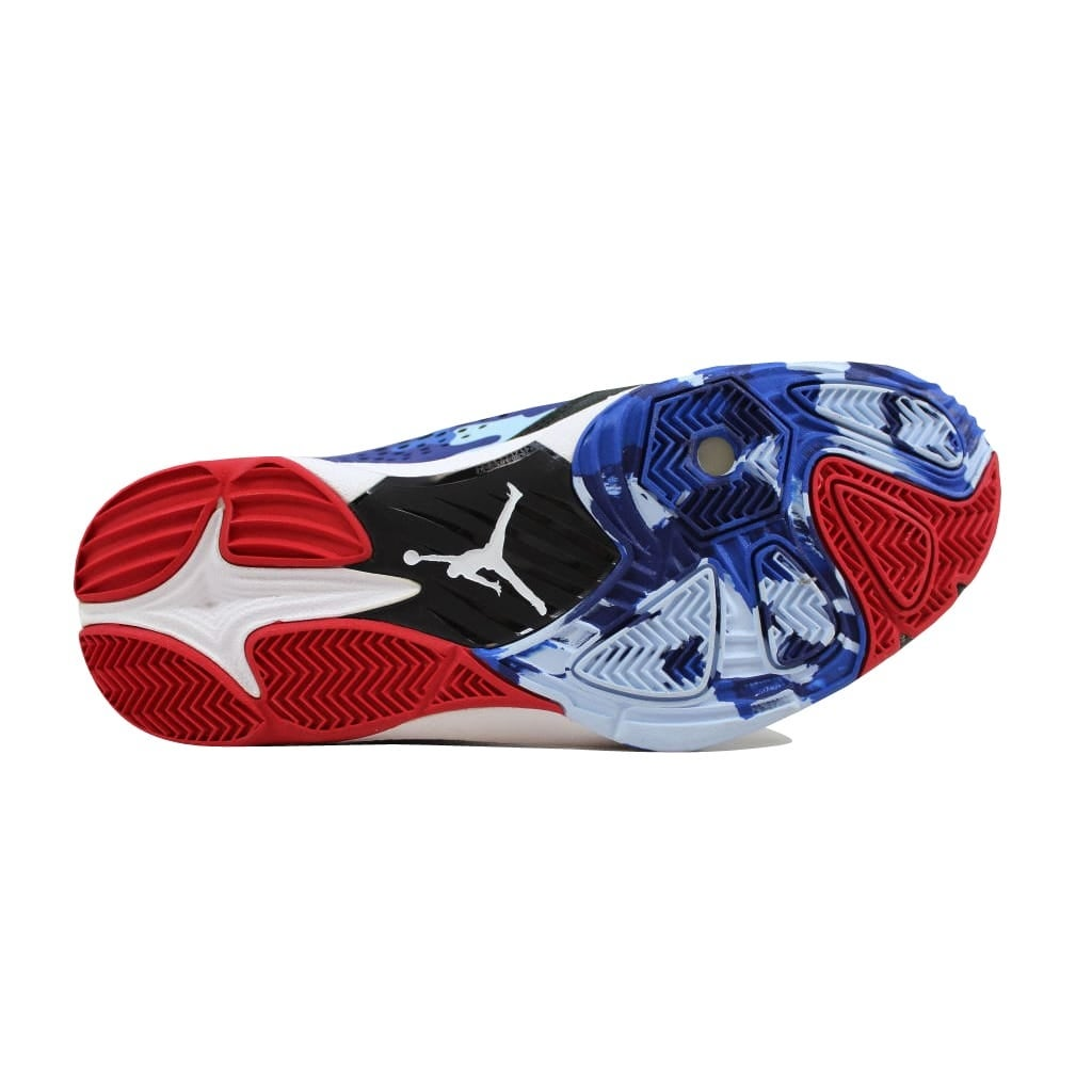 3c4d28a51dd5d3 Shop Nike Men s Air Jordan CP3 VII 7 Black Sport Red-Chambray Blue-Game  Royal616805-012 - Free Shipping Today - Overstock - 22340212