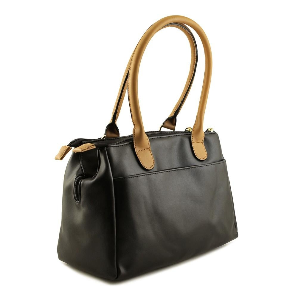 3b47d29290a Shop US Polo Assn Billy Triple Entry Satchel Women Synthetic Black Satchel  - Free Shipping On Orders Over  45 - Overstock.com - 17486176
