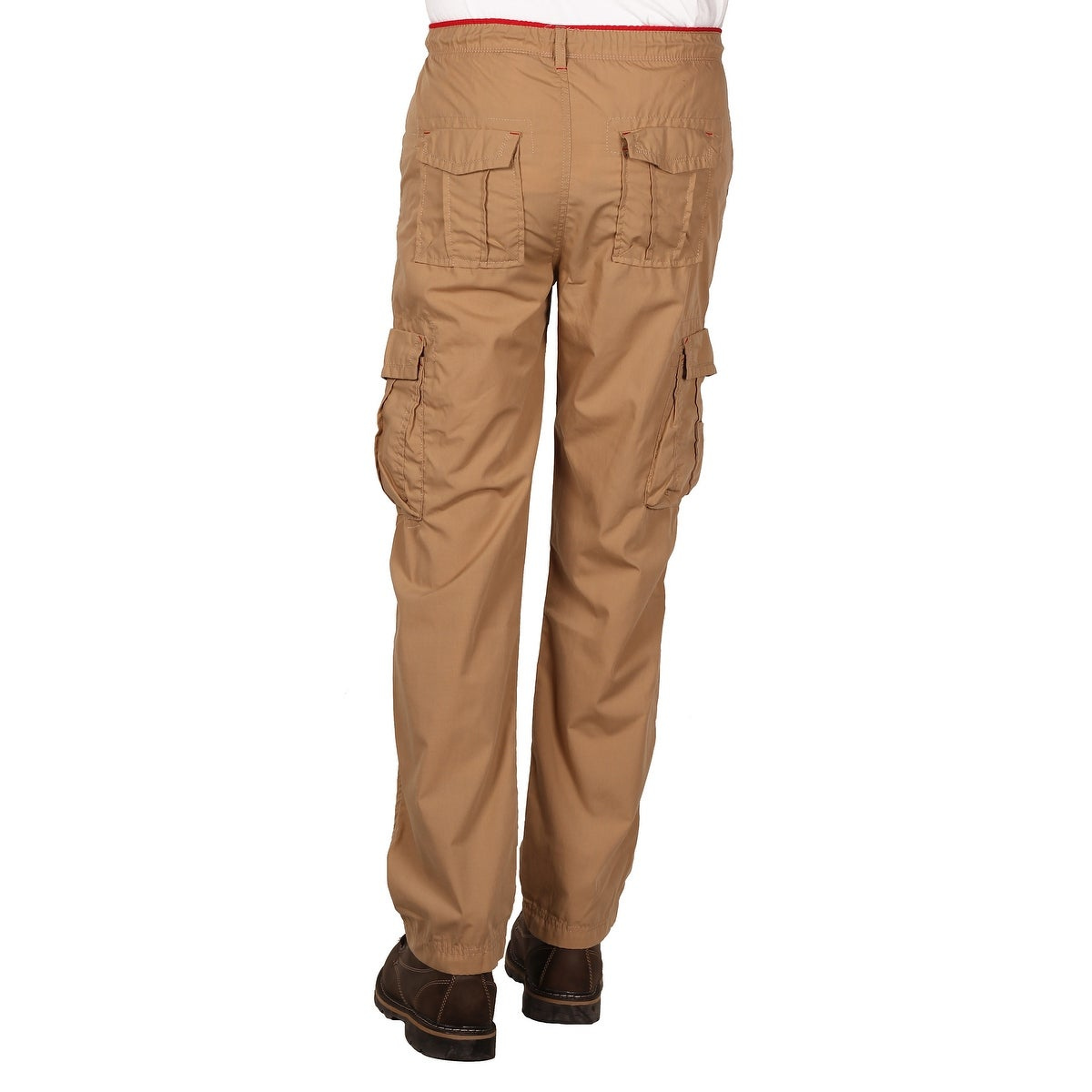 f41da10802 Shop Camp & Campus Men's Elastic Waist Pull-On Poplin Cargo Pant ...