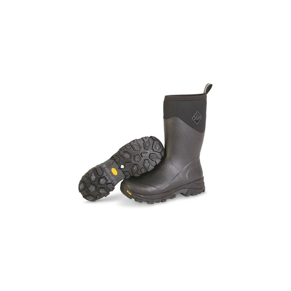 8982ebb248b5 Muck Boots Black Gray Men s Arctic Ice Mid Boot w  Fleece Lining - Size 14