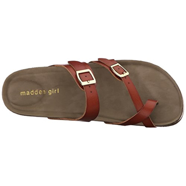 f794eb59515 Madden Girl Women's Bryceee Toe Ring Sandal, cognac paris