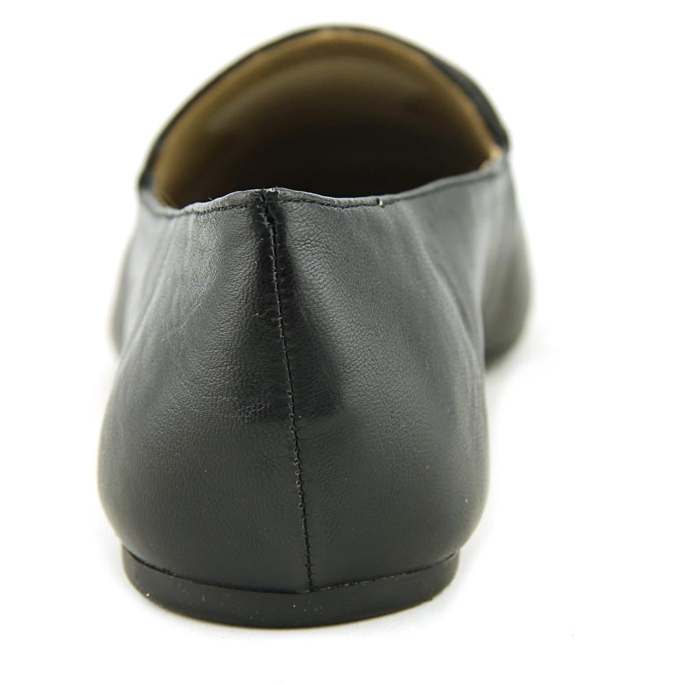 da394d0b62a Shop Enzo Angiolini Lorell Women Round Toe Leather Black Loafer - Free  Shipping Today - Overstock - 19668498