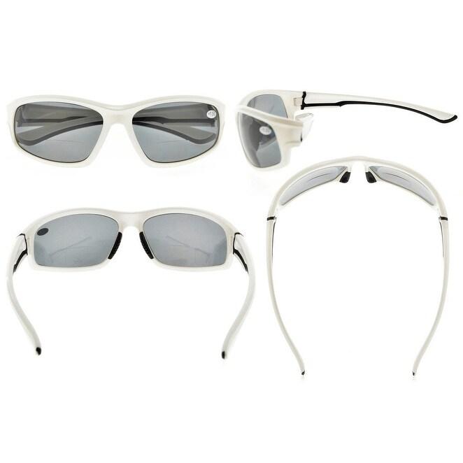 ebc614a3af13c Shop Eyekepper Sports Bifocal Reading Glasses TR90 Unbreakable Sunglasses  (White Frame Grey Lens