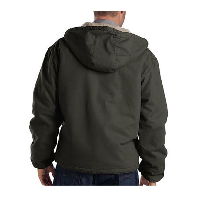 33ec96e3fae0 Shop Dickies Men s Sanded Duck Sherpa Lined Hooded Jacket Black Olive - On  Sale - Free Shipping Today - Overstock - 9704944