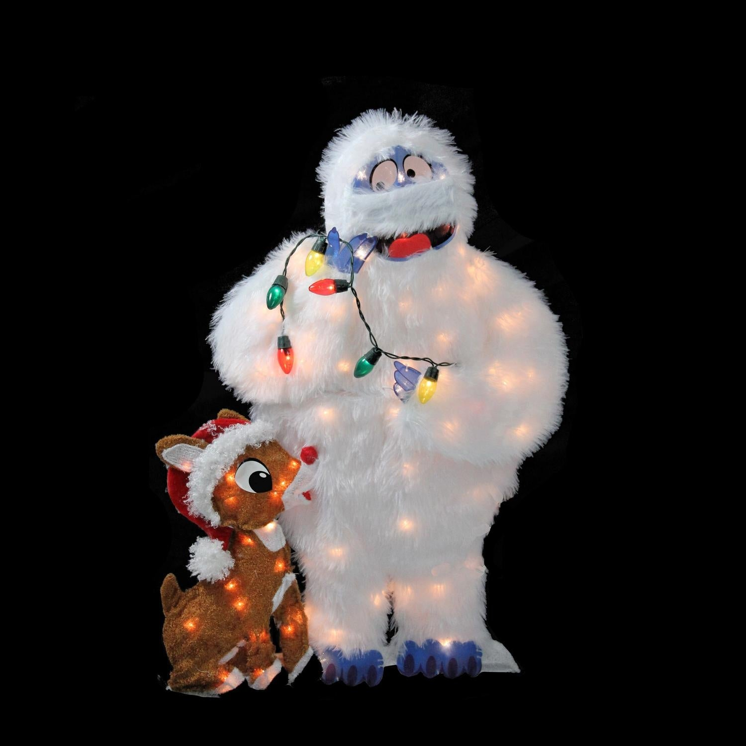 shop 32 pre lit peanuts rudolph and bumble 2 d christmas outdoor decoration brown free shipping today overstockcom 18214472