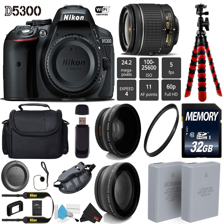 Shop Nikon D5300 Dslr Wi Fi Gps 242mp Dx Cmos Camera With Af P 18 Kit 55mm Vr Lens Led Light Tripod Bundle Intl Model Free Shipping Today