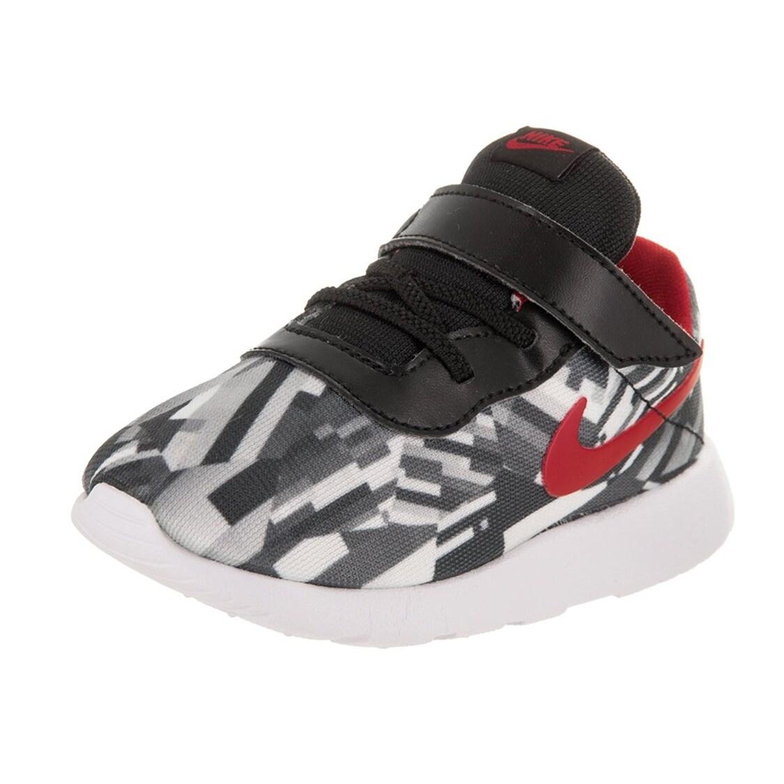 designer fashion 72221 2e129 Shop Nike Toddlers Tanjun Print (TDV) Wolf Grey Gym Red Black White Running  Shoe - Free Shipping Today - Overstock.com - 18280163