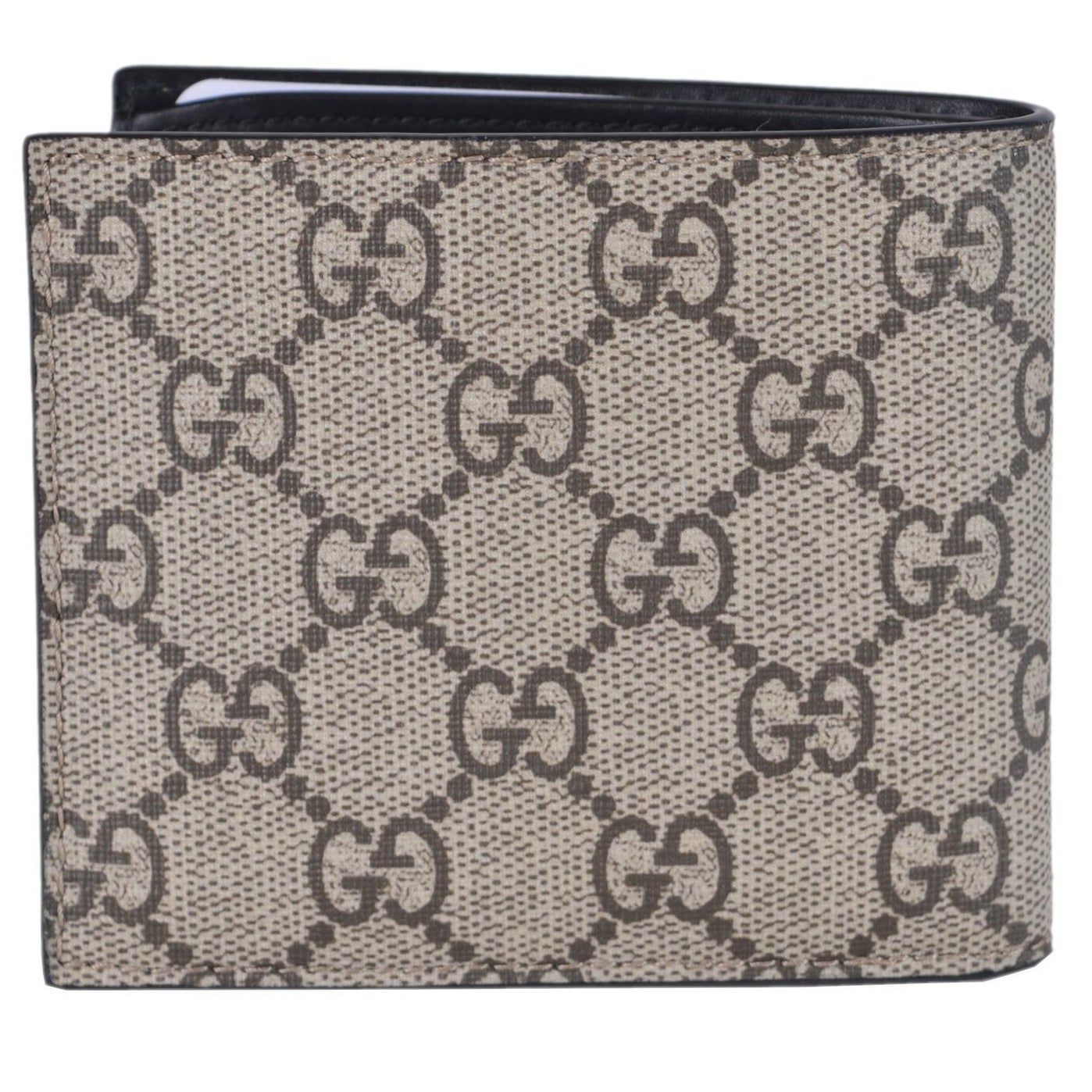 32419b629909 Shop Gucci Men's Beige GG Supreme Canvas Large Bee Logo Bifold Wallet -  4.25
