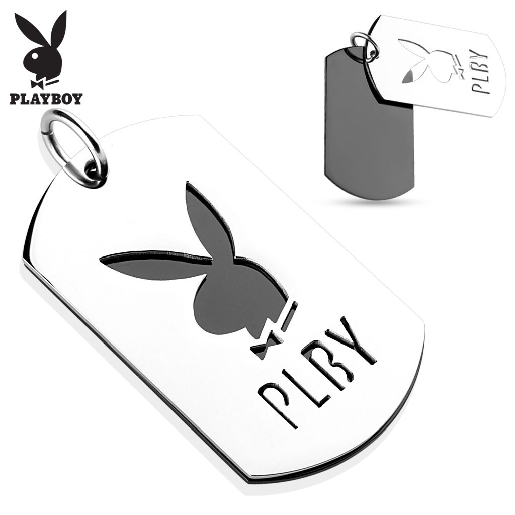 Shop Two Tone Cut Out Stainless Steel Playboy Logo Pendant (28 mm ...