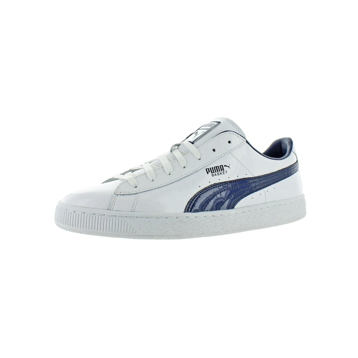 buy online f224b f5181 Puma Mens Basket Classic Casual Shoes Patent Leather Low-Top
