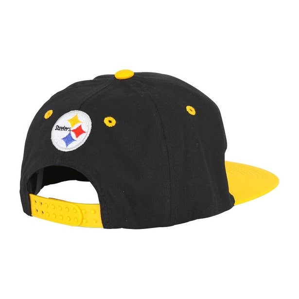 394cb2eb9a7 Shop NFL Pittsburgh Steelers Flatbill 2 Tone Snapback Hat - Free Shipping  On Orders Over  45 - Overstock - 16947734