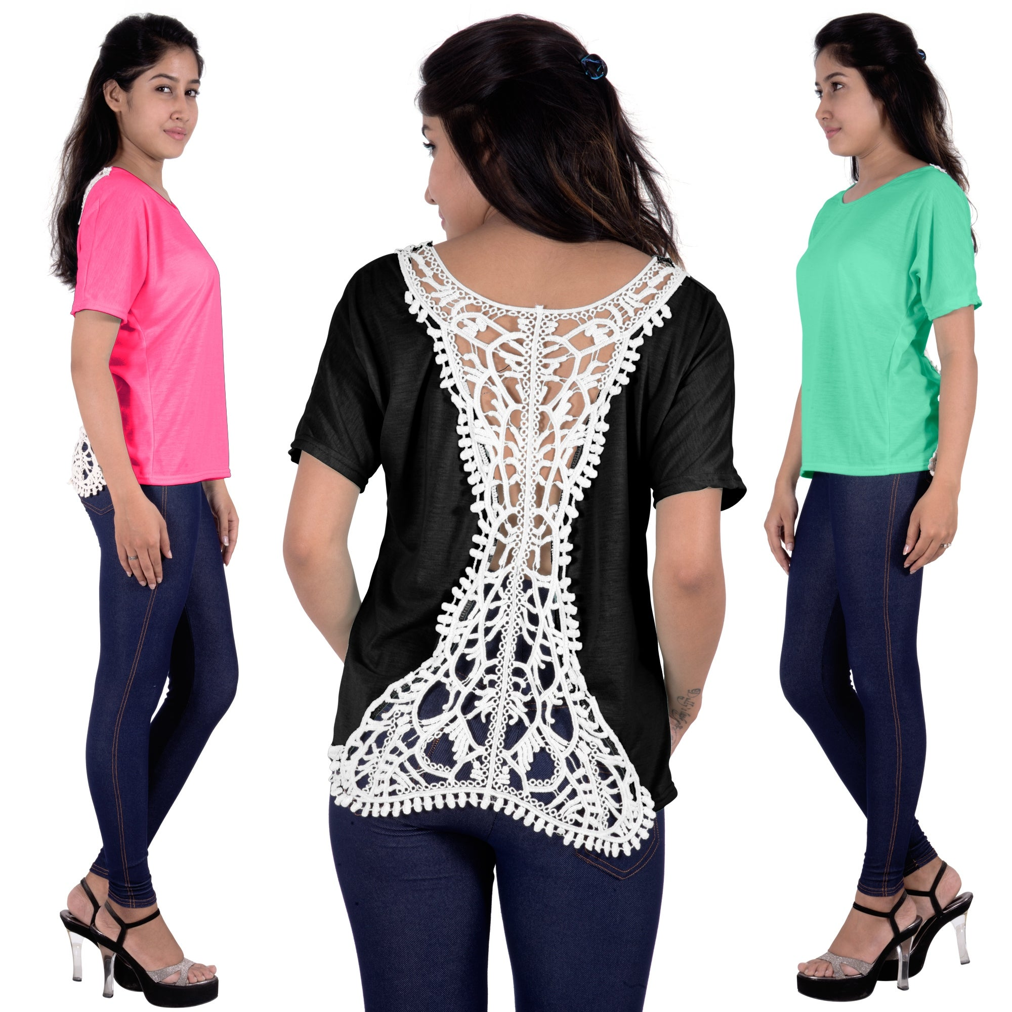 3fe7e1329f Shop Fashion Women Summer Loose Top Short Sleeve Blouse Ladies Casual Tank  Tops T-Shirt Lace - Free Shipping On Orders Over $45 - Overstock - 11822019