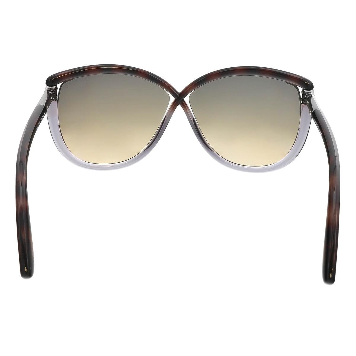 e1b9774e6967d Shop Tom Ford FT0327 S 56B Abbey Havana Purple Oval Sunglasses - 63-9-135 -  Free Shipping Today - Overstock - 19788147