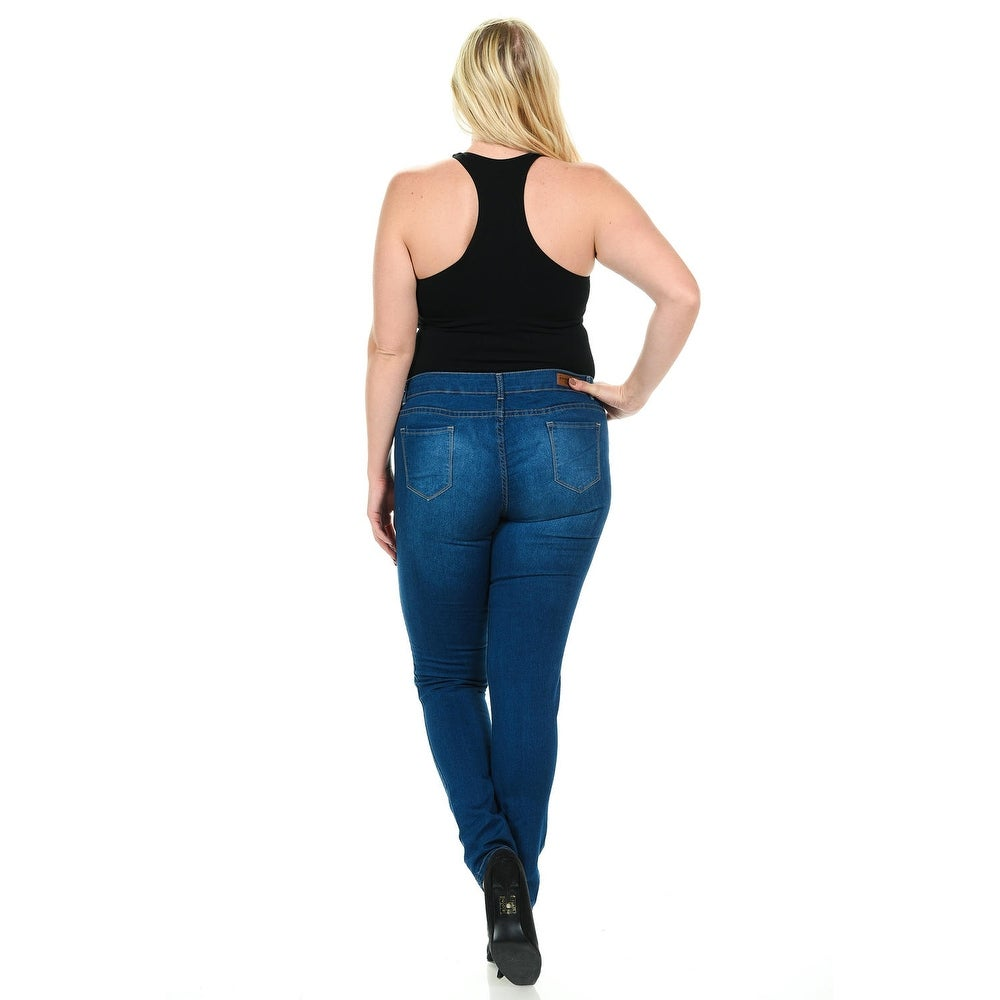 1cc9e68fe1b Sweet Look Premium Edition Women s Jeans - Plus Size - High Waist - Push Up  - Style N066 - Color - Blue - Size - 20