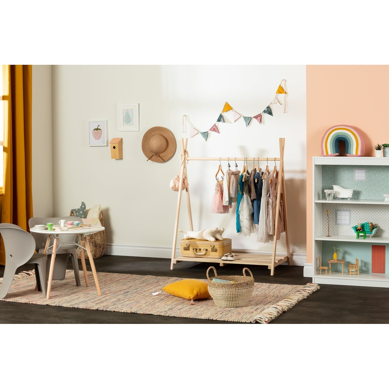 South Shore Sweedi Scandinavian Clothes Rack For Kids Overstock 30804177