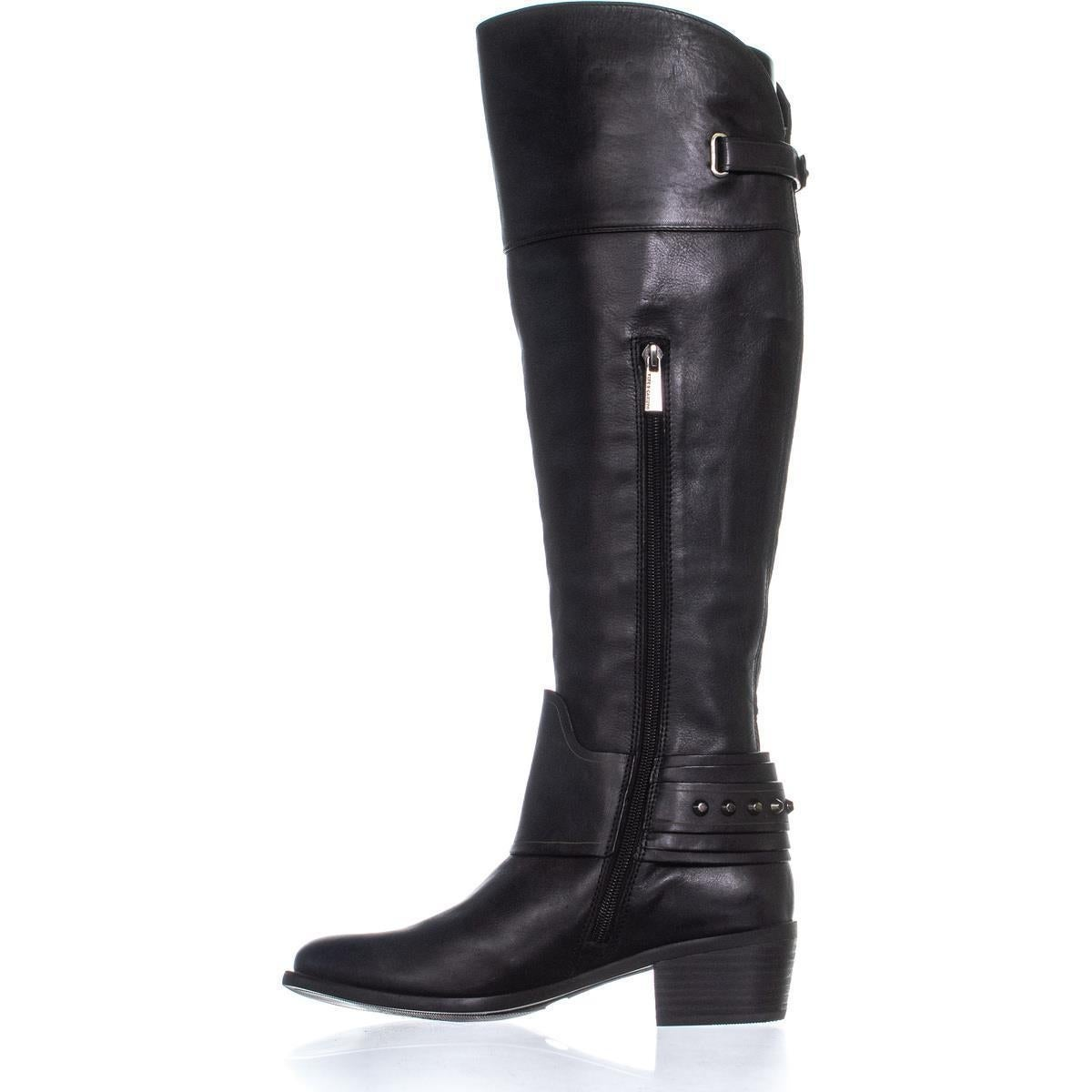 baf2e571353 Vince Camuto Beatrix Ankle Studded Riding Boots, Black