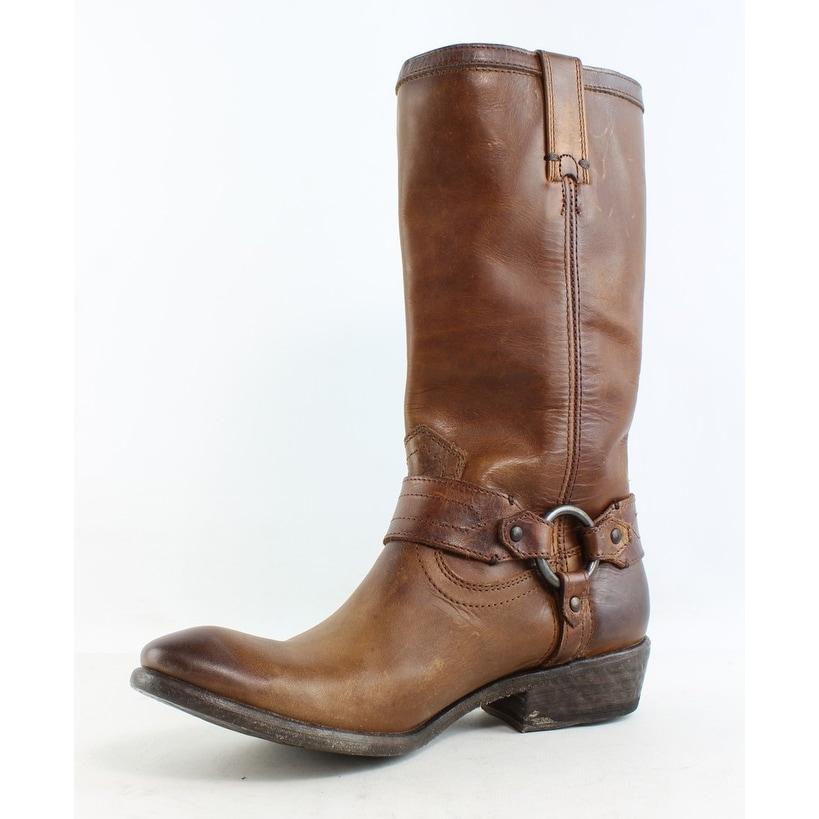 e1c7a41a770 Frye Womens Carson Brown Cowboy, Western Boots Size 7.5