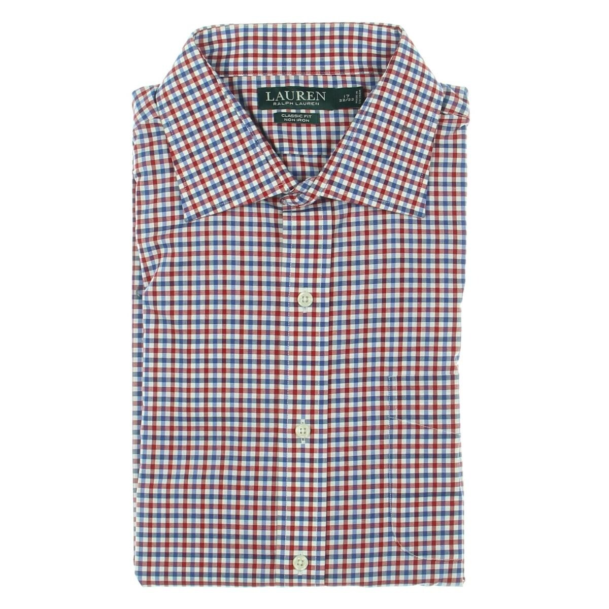 Talls Men/'s Banded Bottom Short Sleeve 3 Button Collar Shirt Tan//White 2XLT
