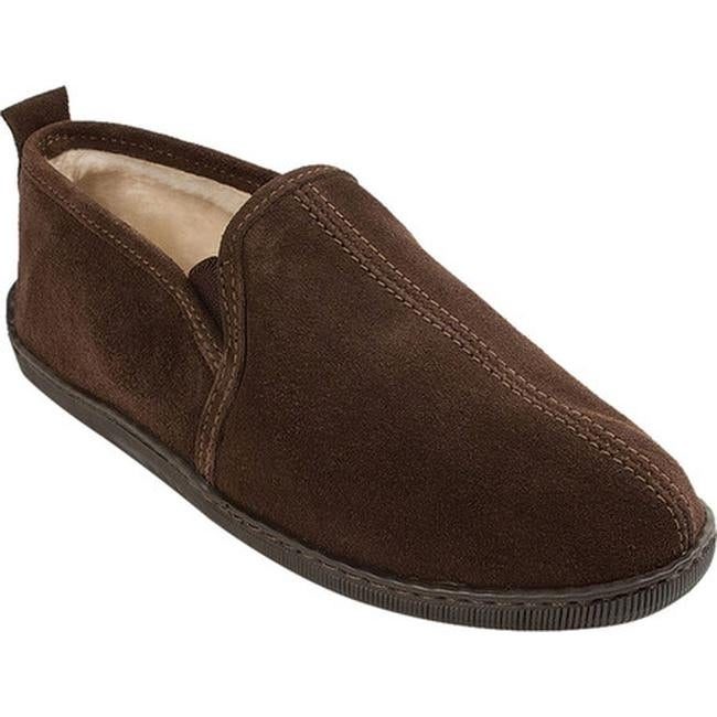 e5da4520bc553 Shop Minnetonka Men s Pile Lined Romeo Slipper Chocolate Suede ...