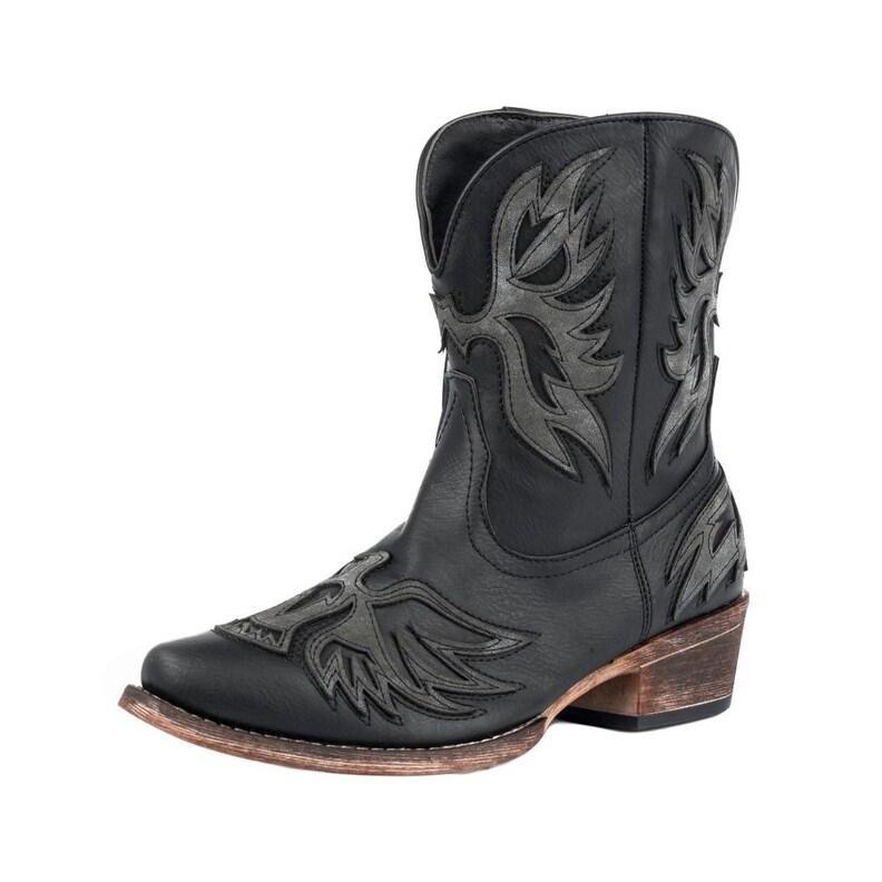 829190b6d61 Roper Western Boots Womens Amelia Overlay Black