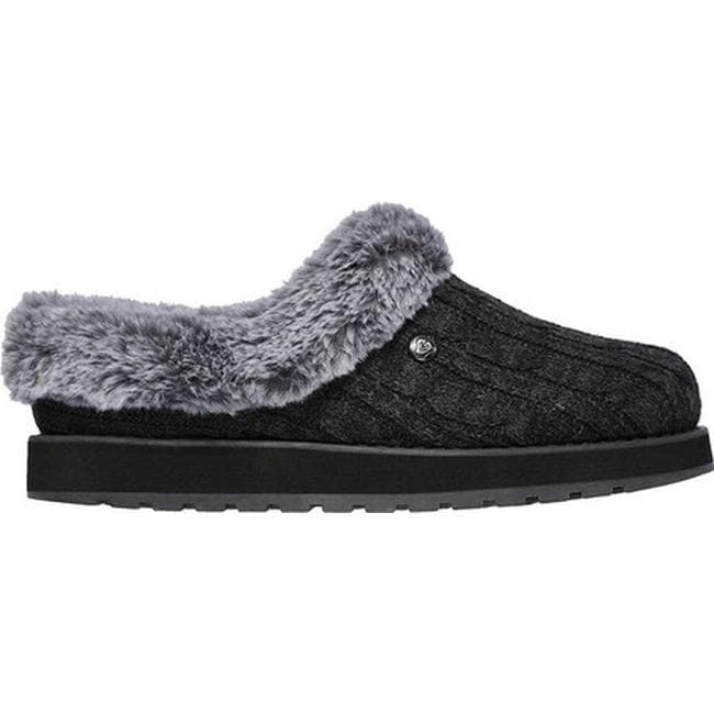 11a3fbb42bc5 Shop Skechers Women s BOBS Keepsakes Ice Angel Clog Slipper Charcoal - On  Sale - Free Shipping On Orders Over  45 - Overstock - 12250050