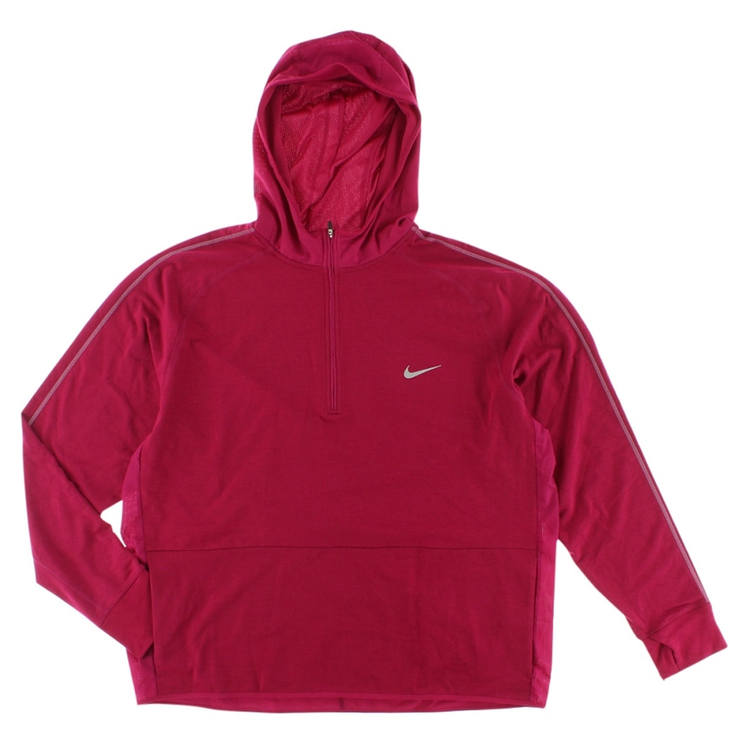 cd7d68b3885a Shop Nike Mens Dri FIT Sprint Half Zip Hoodie Fireberry - Free Shipping  Today - Overstock - 22544939