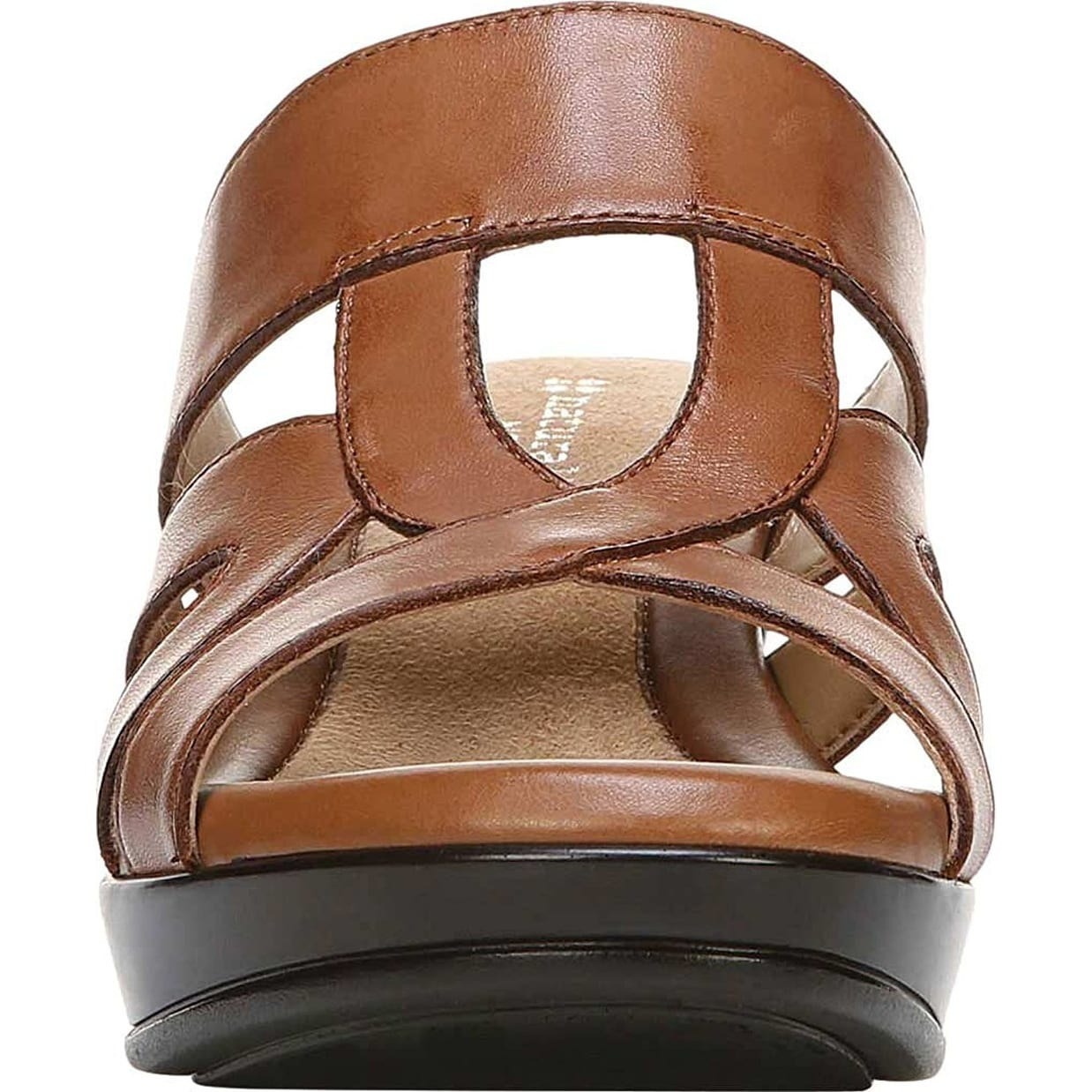 7e16ea35794d Shop Naturalizer Womens Vanity Leather Open Toe Casual Platform Sandals -  Free Shipping Today - Overstock - 21859334