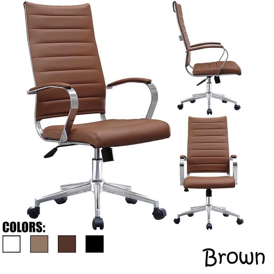 office chair designer. Shop 2xhome - Modern High Back Tall Ribbed Office Chair PU Leather Swivel  Tilt Adjustable Cushion Designer Boss Executive On Sale Free Shipping Office Chair Designer