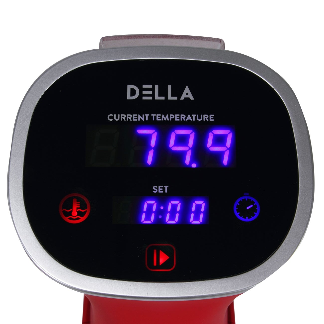DELLA Sous Vide Power Water Heat Cooker LED Display and Temperature  Control, Red