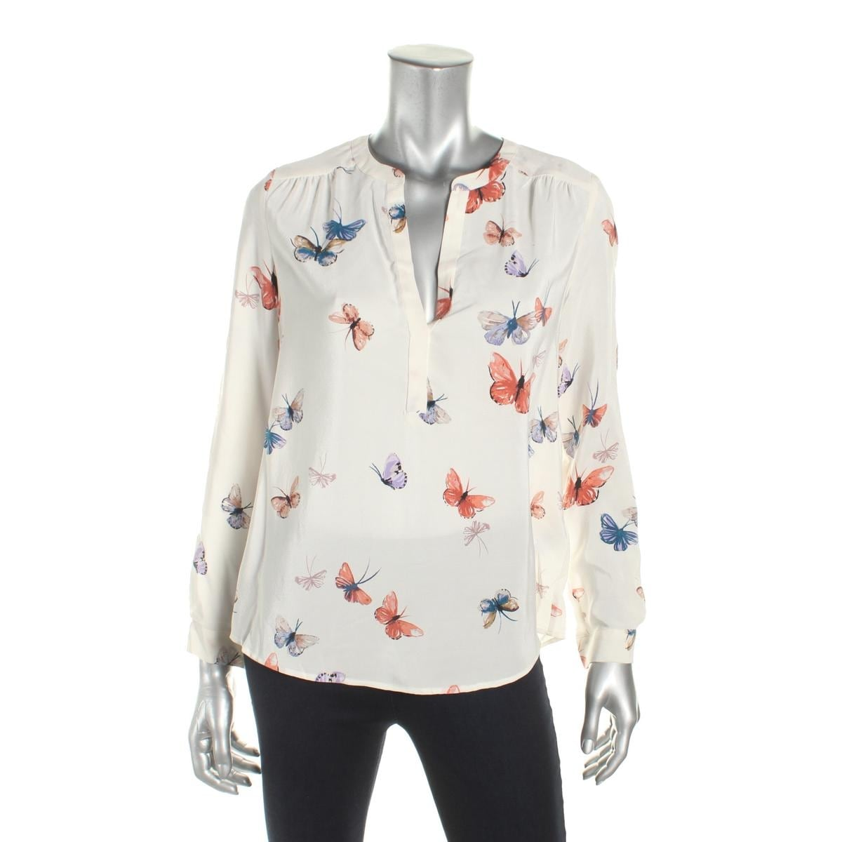 082c2166d8701 Shop Joie Womens Carita Blouse Silk Butterfly Print - Free Shipping Today -  Overstock - 18592462