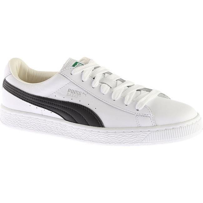 f8bc185400a9 Shop PUMA Men s Basket Classic LFS Sneaker White Black - Free ...