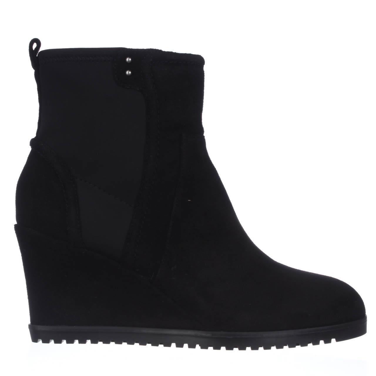 34f27b0f9c18 Shop Taryn Rose Beula Wedge Ankle Boots - Black Suede - Free Shipping Today  - Overstock - 14140038