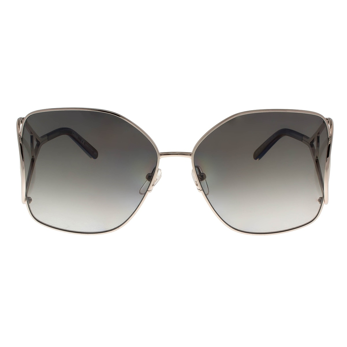 e8a052a8818c Shop Chloe CE135 S 744 Light Gold Grey Butterfly Sunglasses - 63-15-135 -  Free Shipping Today - Overstock - 26290679