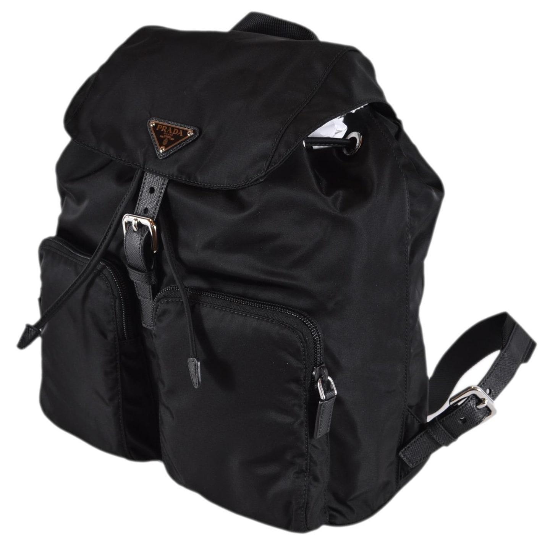 51f7198092b6 Shop Prada Zainetto Black Tessuto Nylon Saffiano Backpack Rucksack Purse  1BZ005 - Free Shipping Today - Overstock - 26292016