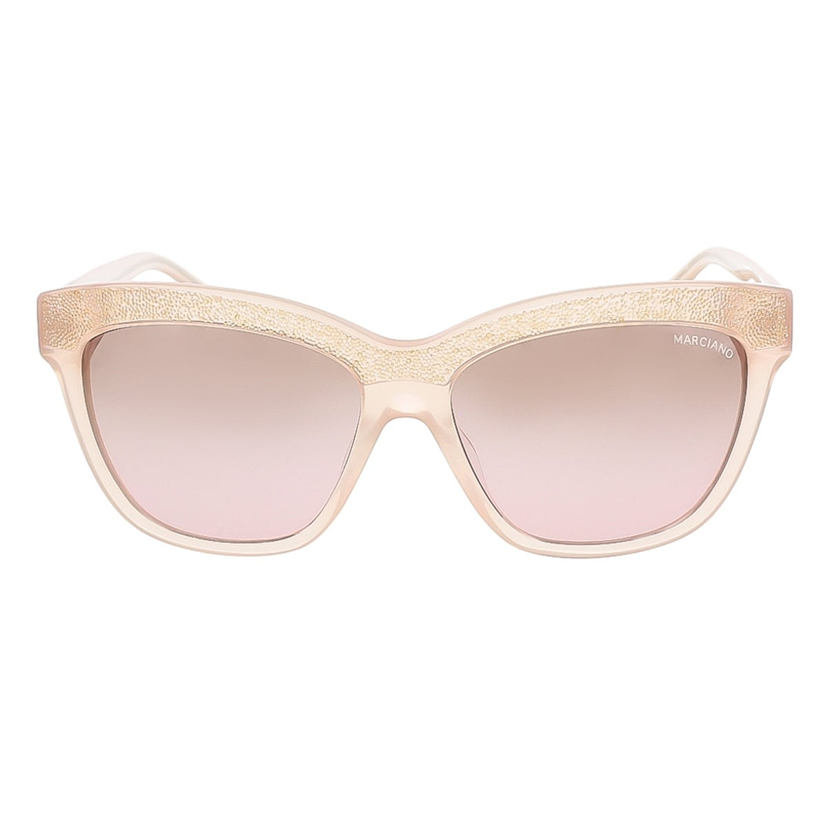 01a6bcf8a7 Shop Guess by Marciano GM0729 74F Blush Pink Rectangle sunglasses -  57-15-135 - Free Shipping On Orders Over  45 - Overstock - 13402501