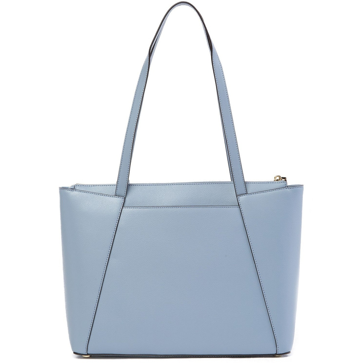 cb5d3bad9eb5 MICHAEL Michael Kors Maddie Medium East West Top Zip Leather Tote Bag Pale  Blue