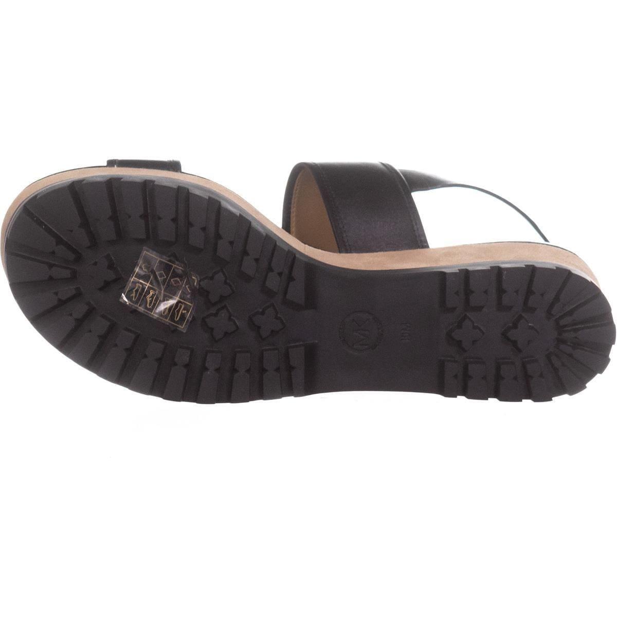 e9f2ad9ac6c MICHAEL Michael Kors Gillian Mid Wedge Platform Sandals, Black - 10 US / 41  EU