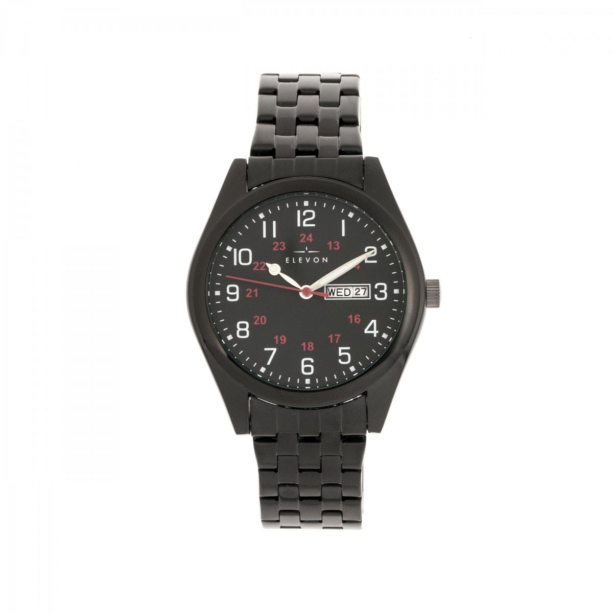Shop Elevon Gann Bracelet Watch W/Day/Date   Black   On Sale   Free  Shipping Today   Overstock.com   23585664