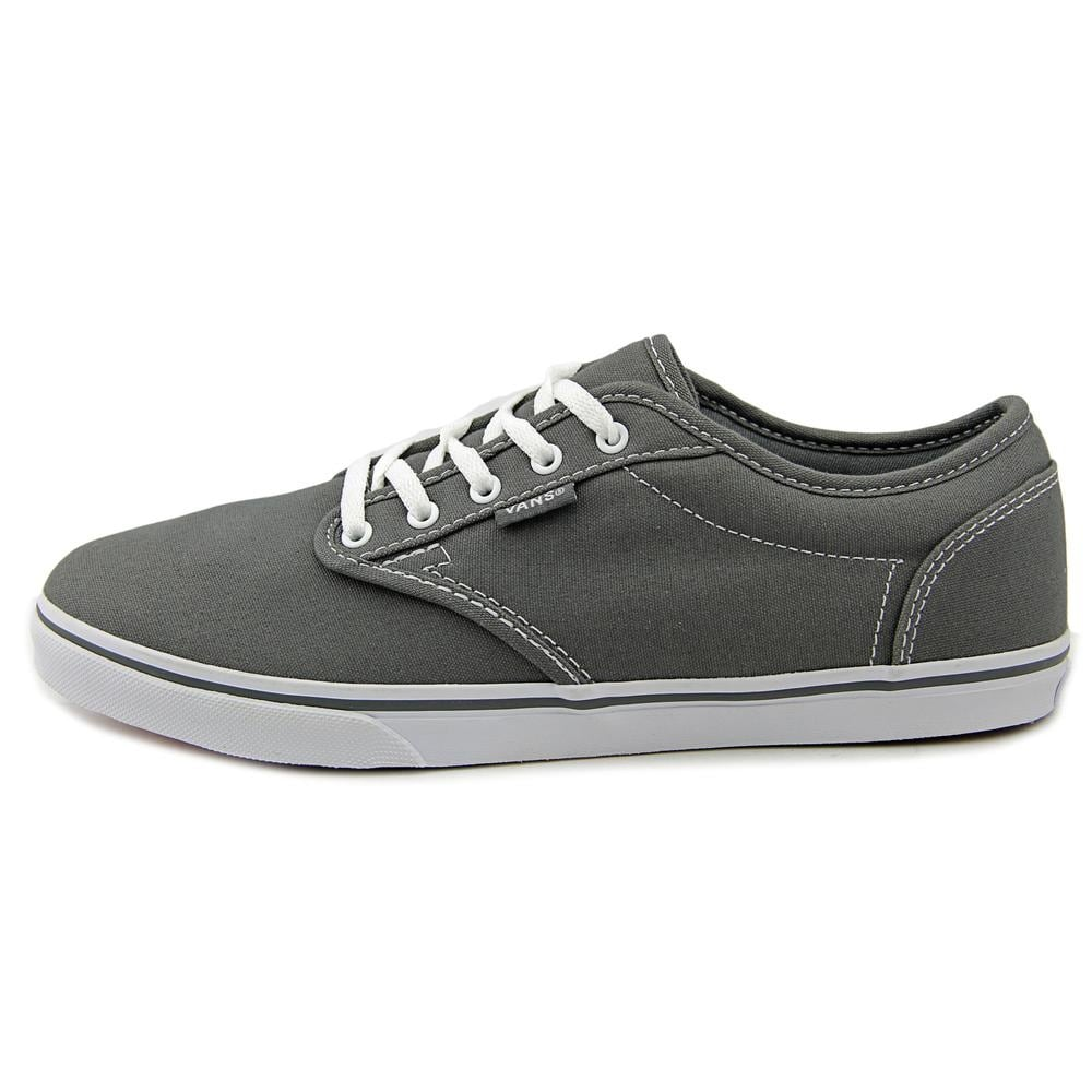 88299d59d550 Shop Vans Atwood Low Pewter White Sneakers Shoes - Free Shipping On Orders  Over  45 - Overstock - 15110454