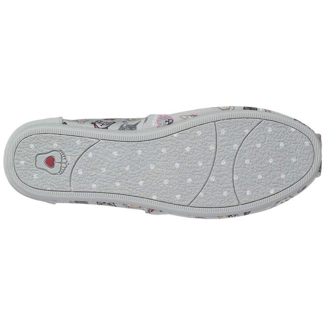 8a7e95e0522be Skechers Bobs Womens Plush-Dapper Cats Ballet Flat, Grey
