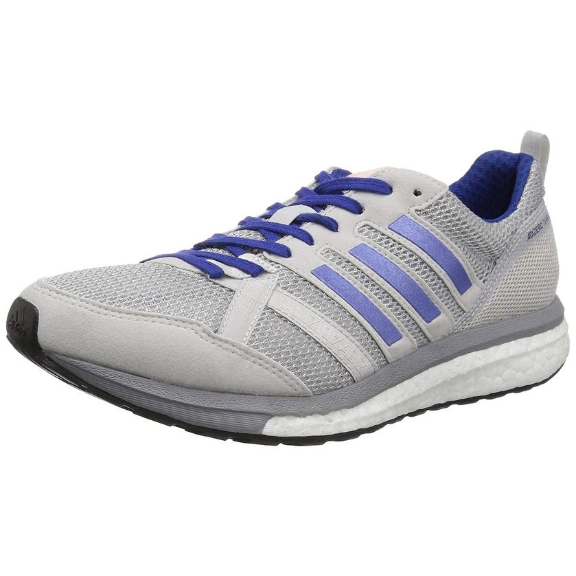 best service 92168 26df7 Adidas Womens Adizero Tempo 9 Fabric Low Top Lace Up Running Sneaker
