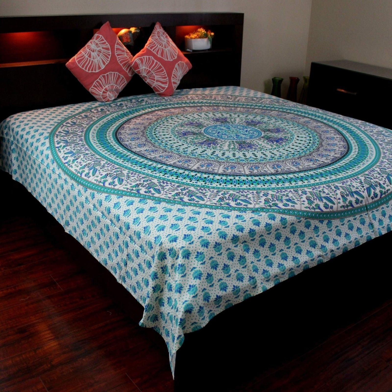 Shop Elephant Mandala Tapestry Wall Hanging 100% Cotton Tablecloth ...