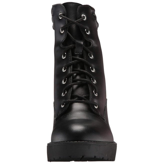c94a02bf6f3 Madden Girl Womens Joltz Almond Toe Ankle Combat Boots