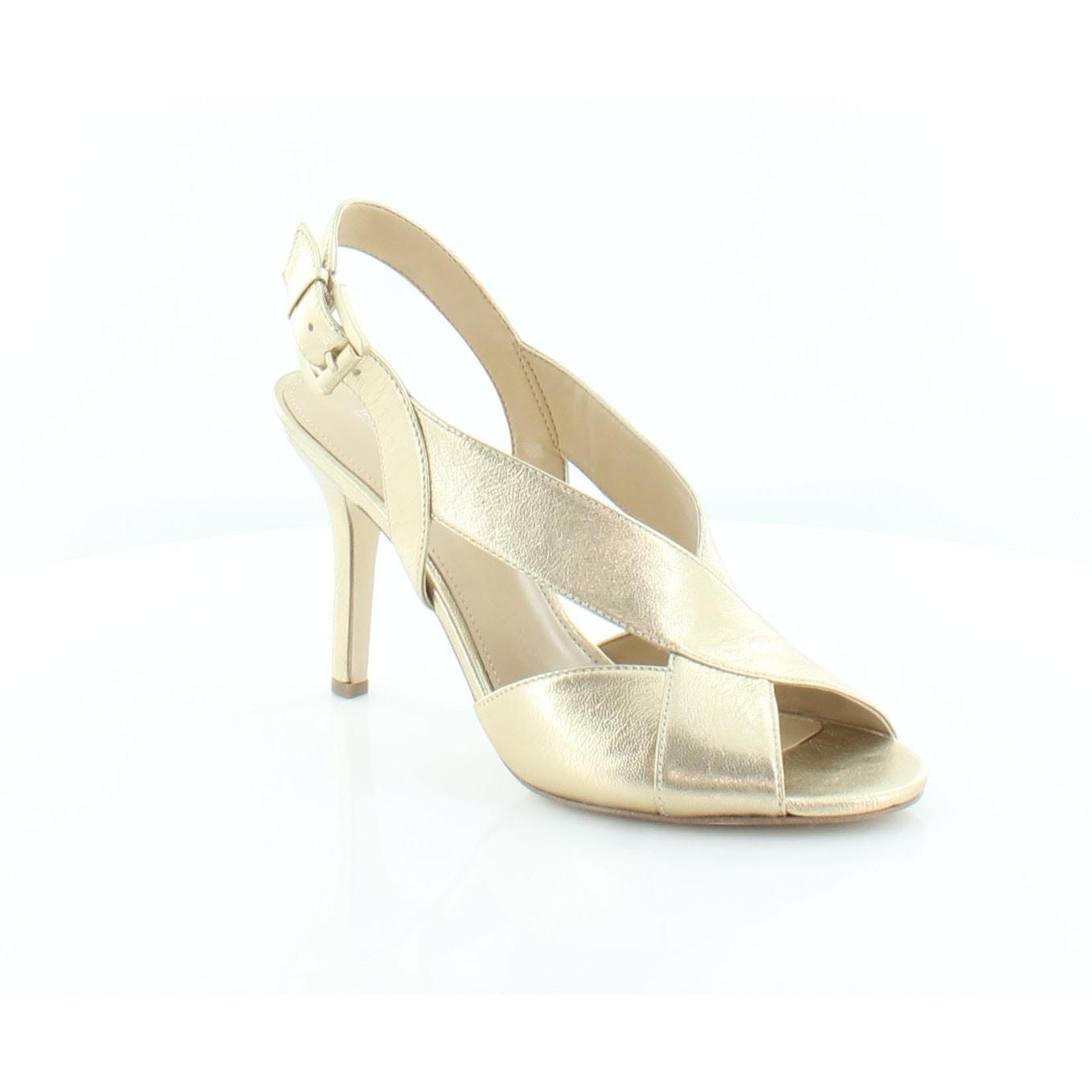 356e87e655bf Shop Michael Kors Becky Sandal Women s Heels Pale Gold - Free ...