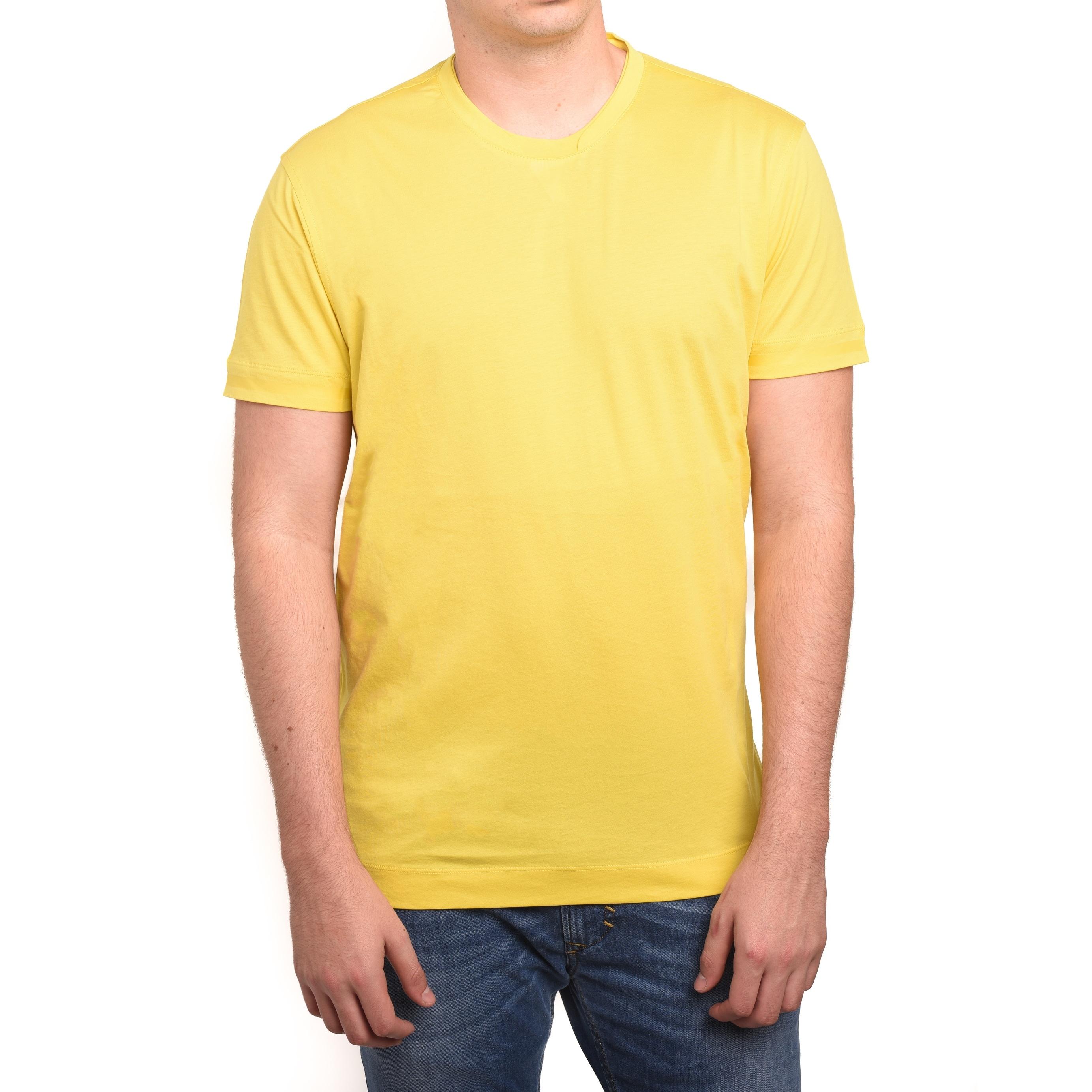 d0f4e4eaf3 Z Zegna by Ermenegildo Zegna Men Double Collar T-Shirt Yellow
