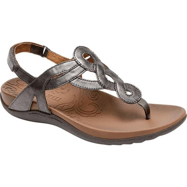 6885dc6bdb395 Shop Rockport Women s Cobb Hill Ramona Thong Sandal Pewter Synthetic ...