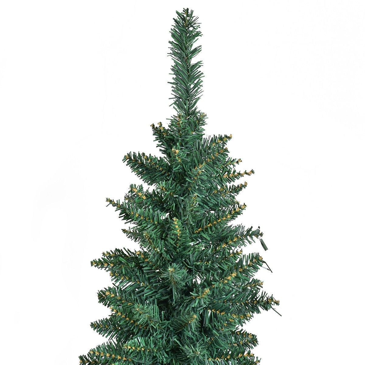 shop costway 7ft pvc artificial pencil christmas tree slim w stand home holiday decor green free shipping today overstockcom 18620664 - 7ft Slim Christmas Tree